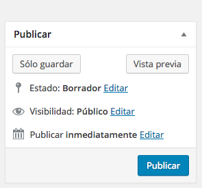 tutorial WordPress publica guardar pagina WordPress