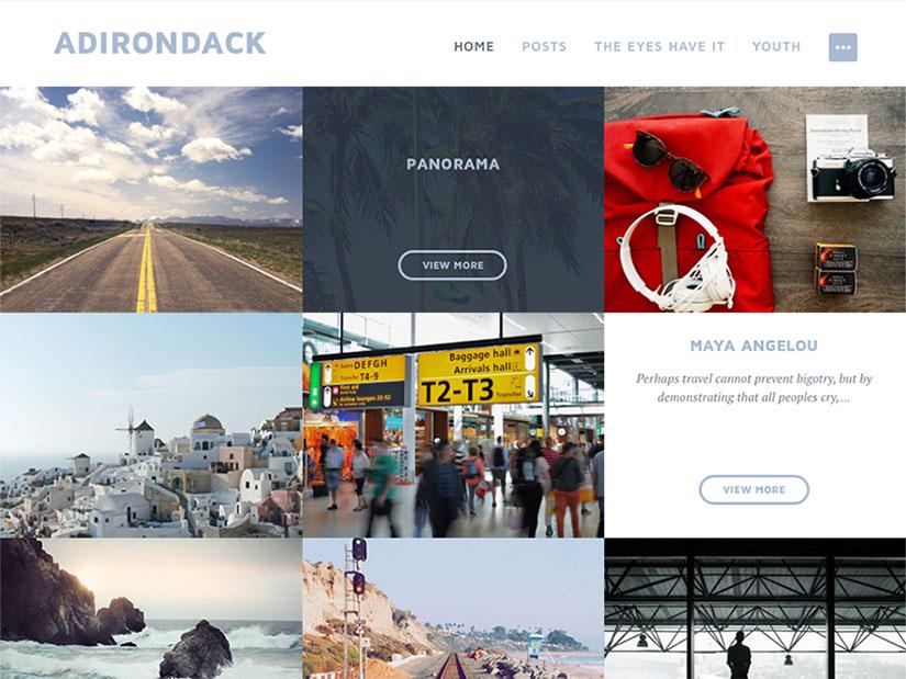 Adirondack WordPress fotografía