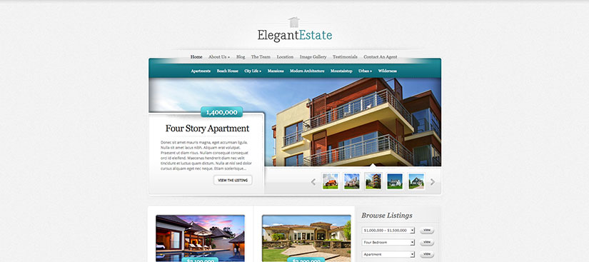 Elegant Estate wordpress inmobiliarias
