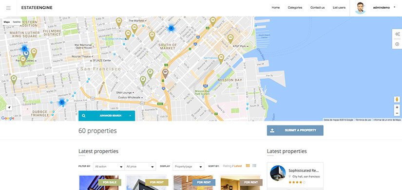 Estate Engine wordpress inmobiliarias