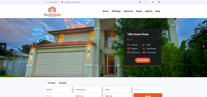 Plantillas WordPress Inmobiliarias