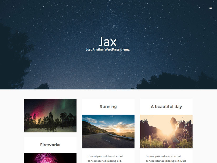 Jax Lite WordPress fotografía