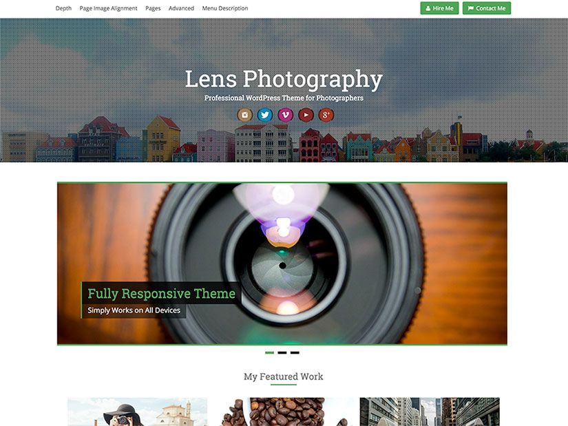 Lens WordPress fotografía