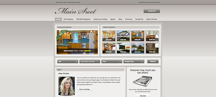 Main Street wordpress inmobiliarias