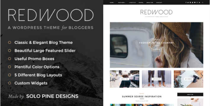 Plantilla para WordPress Redwood
