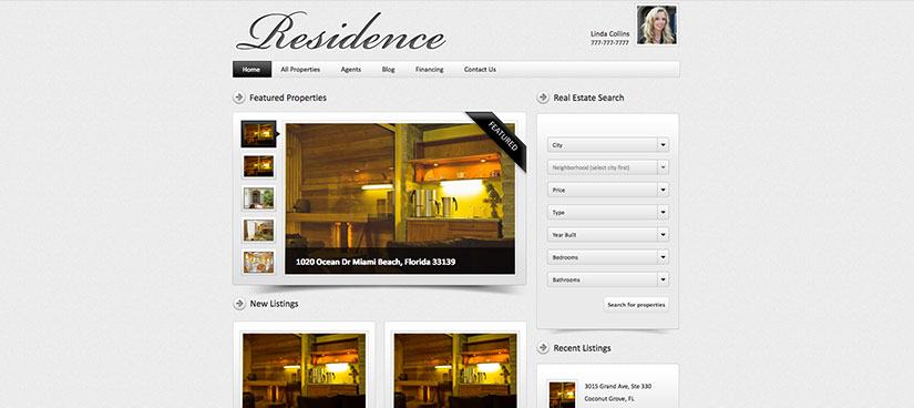 Residence wordpress inmobiliarias