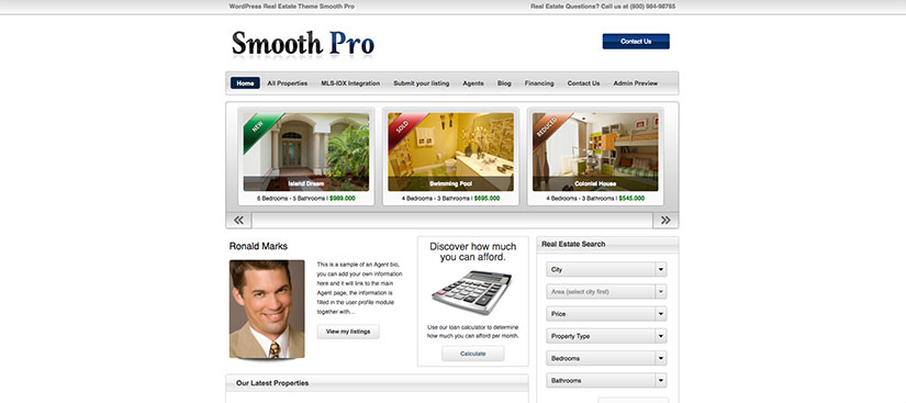 Smooth Pro wordpress inmobiliarias