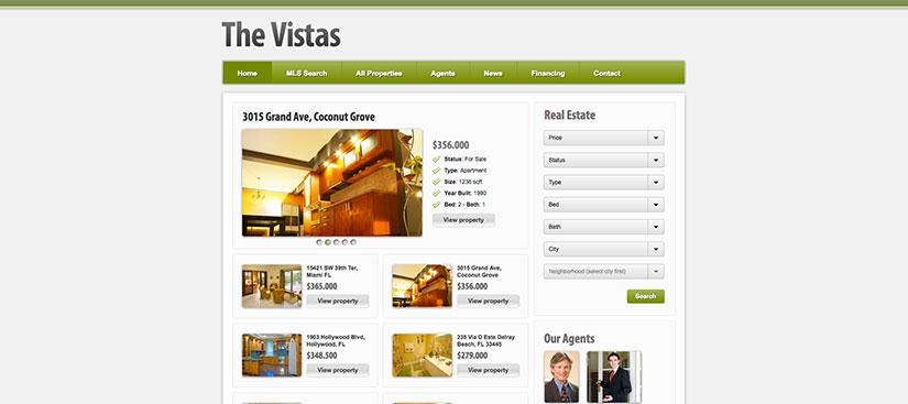 the vistas wordpress inmobiliarias