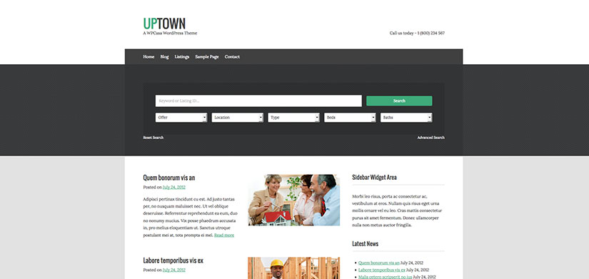 up town wordpress inmobiliarias