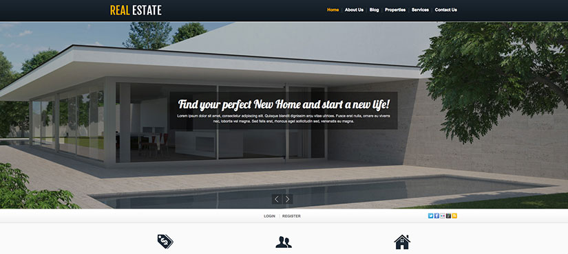White real estate wordpress inmobiliarias